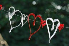 Предпосылка влюбленности Стоковое фото RF
