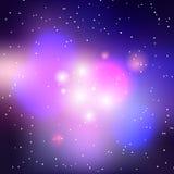 Предпосылка галактики вектора Стоковые Изображения RF