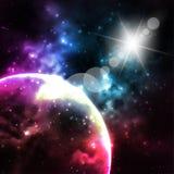 Предпосылка галактики вектор Стоковая Фотография RF