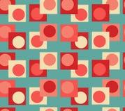 Предпосылка геометрии голубого красного цвета безшовная стоковое изображение rf
