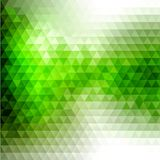 Предпосылка геометрии зеленая Стоковые Изображения