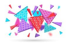 Предпосылка геометрических форм динамическая абстрактная Стоковое фото RF