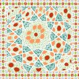 Предпосылка геометрической картины этническая красочная Стоковое фото RF