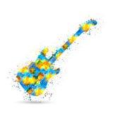 Предпосылка гитары музыки Стоковая Фотография