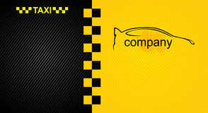 Предпосылка гонок оранжевая, шаблон крышки такси Стоковое Изображение
