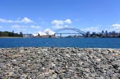 Предпосылка горизонта Сиднея Стоковые Фотографии RF