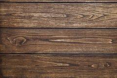 Предпосылка 3 горизонтальных доск темной древесины с узлами и трассировок обрабатывать Стоковое Изображение