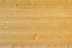 Предпосылка горизонтальных русых деревянных планок Стоковое Изображение RF