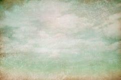 Предпосылка года сбора винограда облачного неба Стоковое фото RF