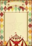 Предпосылка года сбора винограда цирка косоугольников Стоковые Фотографии RF