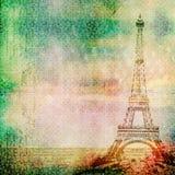 Предпосылка года сбора винограда Эйфелева башни Стоковые Фото