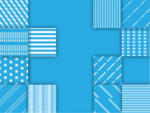 Предпосылка голубого и белого квадрата, абстрактный вектор Стоковая Фотография