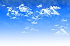 Предпосылка голубого неба с облаками кумулюса бесплатная иллюстрация