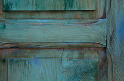 Предпосылка голубой деревянной двери в конце вверх Стоковые Фото