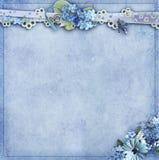Предпосылка голубой маргаритки Стоковая Фотография