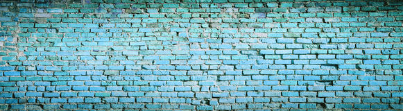 Предпосылка голубой текстуры картины кирпичной стены Высокое разрешение p Стоковая Фотография RF