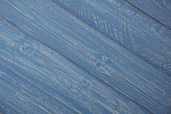 Предпосылка голубых и белых деревенских доск Стоковое Изображение