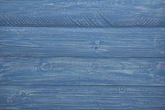 Предпосылка голубых и белых деревенских доск Стоковое Фото