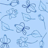 Предпосылка голубых роз Иллюстрация штока