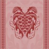 Предпосылка гравировки виноградины вина иллюстрация вектора