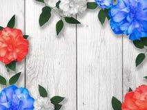 Предпосылка границы цветка Дня памяти погибших в войнах Стоковая Фотография RF