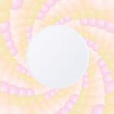 Предпосылка границы twirl красочная Стоковое Изображение