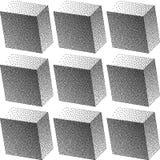 Предпосылка градиента безшовная с черными точками Стоковые Фото