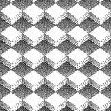 Предпосылка градиента безшовная с черными точками Стоковое Изображение