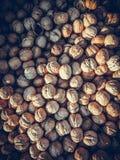 Предпосылка грецких орехов всех Стоковые Изображения