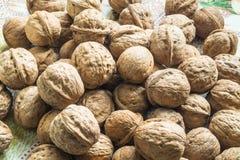 Предпосылка грецких орехов Стоковая Фотография RF