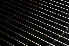Предпосылка гриля утюга нержавеющей стали Crome черно-белая Стоковое Изображение RF