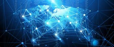 Предпосылка глобальной вычислительной сети вектор иллюстрация вектора
