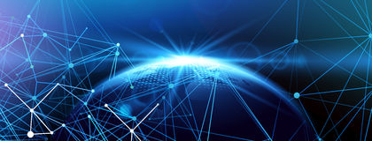 Предпосылка глобальной вычислительной сети вектор бесплатная иллюстрация
