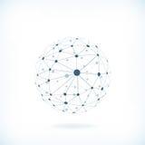 Предпосылка глобальной вычислительной сети Стоковые Изображения RF