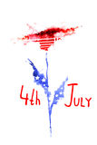 Предпосылка Дня независимости 4-ое июля Стоковые Изображения