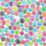 Предпосылка лева проиллюстрированного Crayon болгарского и Stotinki Co Стоковые Фото