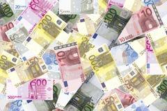 Предпосылка евро Стоковая Фотография RF