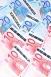 Предпосылка евро Стоковое Изображение
