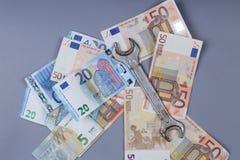 Предпосылка евро Стоковое Изображение RF