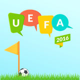 Предпосылка 2016 евро UEFA Стоковое Фото