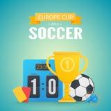 Предпосылка 2016 евро UEFA Стоковая Фотография RF