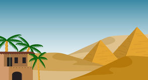 Предпосылка Египта Стоковая Фотография