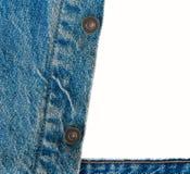 Предпосылка демикотона джинсовой ткани, текстура джинсовой ткани, джинсовая ткань изолированная на белой предпосылке, Стоковая Фотография RF