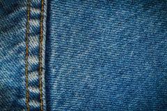 Предпосылка демикотона джинсовой ткани Стоковое Изображение RF