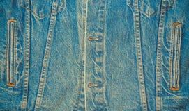 Предпосылка демикотона джинсовой ткани Стоковые Фотографии RF