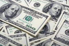 Предпосылка денег банкноты доллара Стоковое фото RF