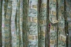 Предпосылка денег, бат банкнот 20, валюта Стоковое Изображение