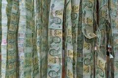 Предпосылка денег, бат банкнот 20 Стоковое Изображение