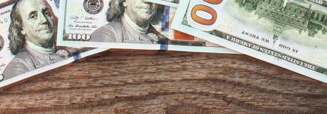 Предпосылка денег (близких вверх долларовой банкноты) Стоковое Фото