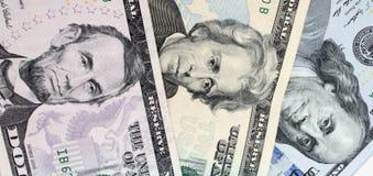 Предпосылка денег (близких вверх долларовой банкноты) Стоковое Изображение RF